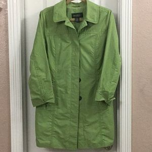 Eddie Bauer Green Fall Jacket Trench Coat